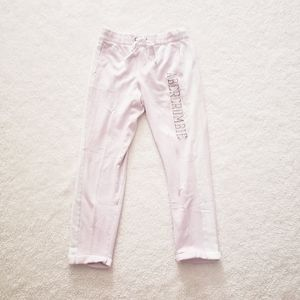 Abercrombie Baby Pink Cuffed Sweatpants